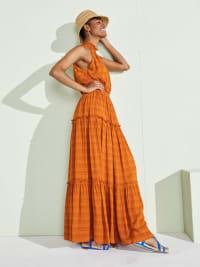 Taylor Cut Away Smocked Maxi Dress - Back