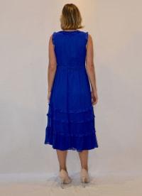 Mini Ruffle Hem Chiffon Dress - Back