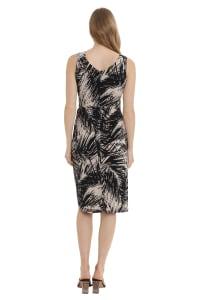 Alexa Scoop Neck Faux Sarong Dress - Petite - Back