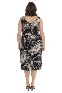 Alexa Scoop Neck Faux Sarong Dress - Plus - Back