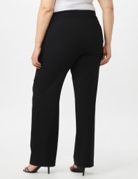 Roz & Ali Plus Secret Agent Tummy Control Pull On Pants - Average Length-Plus - Black - Back