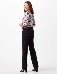 Roz & Ali Secret Agent Tummy Control Pants Cateye Rivet - Short Length - Misses - Black - Back