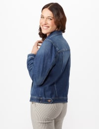 Long Sleeve Denim Jacket - Misses - Blue Wash - Back