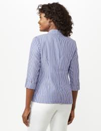 Seersucker Striped Topper - Blue /White - Back