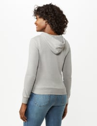 Mineral Wash Zip Hoodie - Alloy Grey - Back