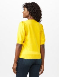 Puff Sleeve Sweater - Sunflower - Back