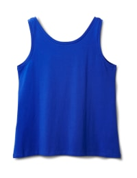 Studded Knit Tank - Plus - Royal Blue - Back