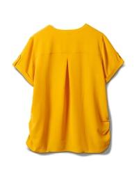 2 Pocket Side Tie  Woven Top - Gold - Back