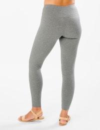 Tummy Control Legging - Heather Grey - Back