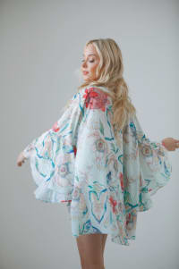 Botanica Print Nomade Kimono - Botanica - Back