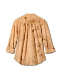 Tie Dye Jaquard Knit Popover - Beige - Back
