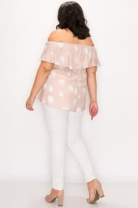 Sexy Off-Shoulder Top - Dusty Pink - Back