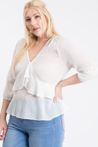 Show Off Dotted Blouse - White - Back