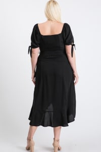 Give Your Pants A Break Summer Dress - Black - Back