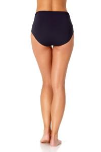 Anne Cole® Live in Color Hi Waist Shirred Bikini Swimsuit Bottom - Navy - Back