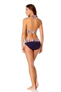 Anne Cole® Jet Set Stripe Halter Bra Swimsuit Top - Multi - Back