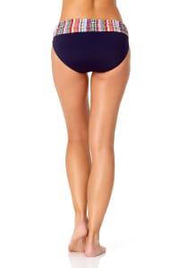 Anne Cole® Jet Set Stripe Foldover Bikini Swimsuit Bottom - Multi - Back