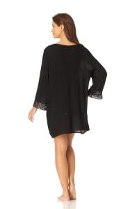 Anne Cole® Crochet Mixer Swimsuit Cover-Up - Black - Back
