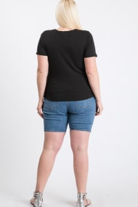 Casual Top With A Twist - Black - Back