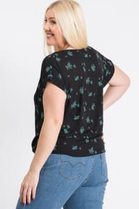Off You Go Button-Down Tee - Black - Back