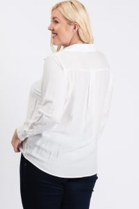 Collar Shirt - White - Back