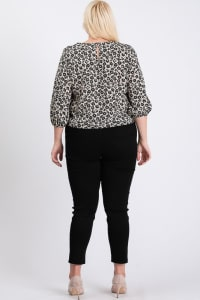 Flowery Bottom Tie Shirt - Black - Back