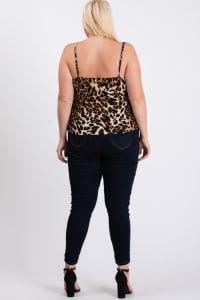 Leopard x Tassels Top - Leopard - Back