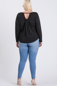 Daily Use Cupro Jersey Top - Black - Back