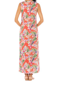 Caribbean Joe® Maxi Side Slit Dress - Red - Back