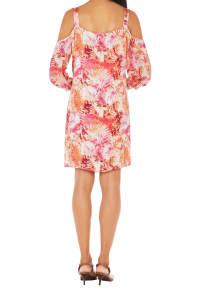 Caribbean Joe® Cold Shoulder Dress - Sundried - Back
