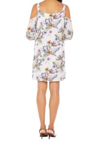 Caribbean Joe® Cold Shoulder Dress - White - Back