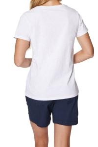 Caribbean Joe® Screen Print Knit T-Shirt - White Combo - Back