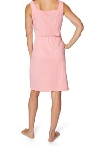 Caribbean Joe® Front Knot Button-Up Dress - Pink - Back
