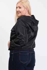 Essential Rain Hoodie - Black - Back