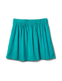 Pull On Skort with Back Elastic - Teal - Back