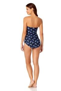 Anne Cole® Leaf Toss Bandeau One Piece Swimsuit - Multi - Back