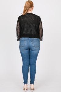 Party Hard Sequin Cardigan - Black - Back