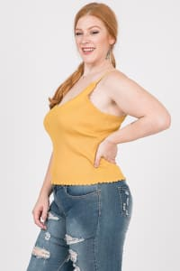Every Mood Tank Top - Mustard - Back
