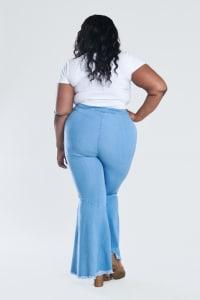 Jeans Ft A Sexy Split Fare - Light stone - Back