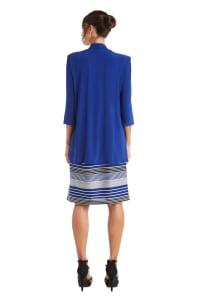 Stripe Dress with Jacket - Misses - Royal - Back
