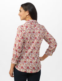 Daisy Print 3 Button Popover - Multi - Back
