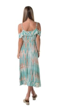 Dress Joya - Arrow green - Back