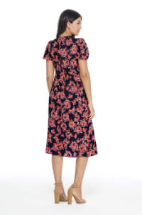 Ditsy Floral Jamie Dress - Navy/Red - Back