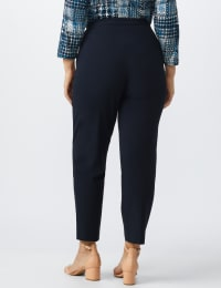 Plus Roz & Ali Pull On Secret Agent Pant with L Pockets- Average Length - navy - Back