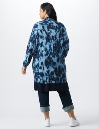 Roz & Ali Tie Dye Duster - Plus - Navy - Back