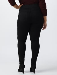 Plus- Westport Signature High Rise Pull On Jegging Jean - Black - Back