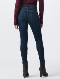 Petite Westport Signature 5 Pocket Skinny Jean - Dark Wash - Back