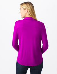 Rayon Span Pique Shirt - Misses - Tropical Orchid - Back