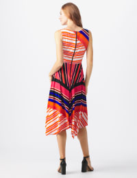 Orange Zest Striped Dress - Misses - black/rust - Back