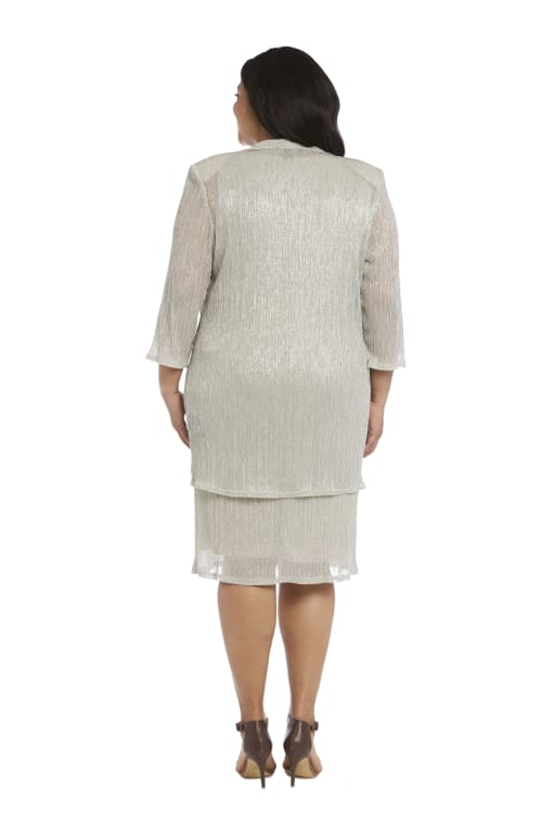 2 Piece Jacket Dress - Plus - Back